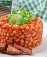 gebackene Bohnen mit Tomatensauce foto