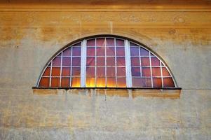 Freskenwand mit Fenster foto