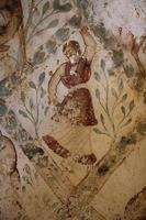 Fresko vom Schloss Qasr Amra foto