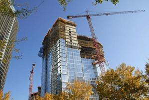 Wolkenkratzerkonstruktion foto