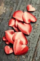 Valentinstag Hintergrund mit Herzen foto