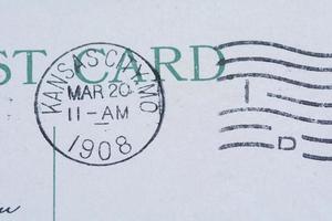 Kansas City Poststempel auf Postkarte 1908 foto