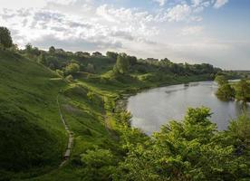 malerische Aussicht auf den Fluss foto