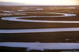 geschwungener Fluss