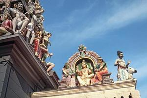 Sri Mariamman Hindu Tempel in Singapur. foto