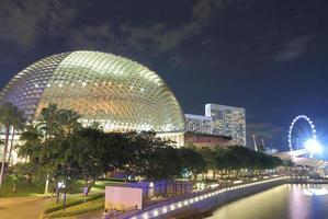 Skyline von Singapur und Fluss Singapur