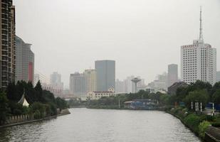 Fluss Suzhou in der Mitte von Shanghai