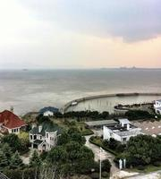 suzhou Ferienhäuser, See, Insel, Hafen, Lastkahn, Ferienort.