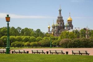 Sommerblick auf die Stadt Saint-Petersburg