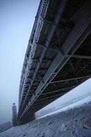 Peter die große Brücke im Winter foto
