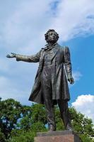 berühmte Dichter Alexander Puschkin Statue, Heiliger Petersburg foto