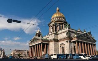 Die Kathedrale von Saint Isaac in Saint Petersburg foto