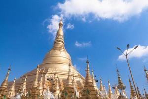 Shwedagon-Pagode in Yangon, Birma (Myanmar) foto