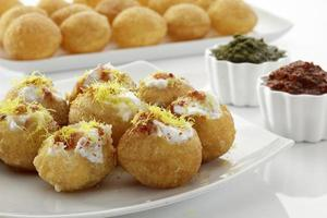 Dahi Batata Puri, Chat Essen, Indien