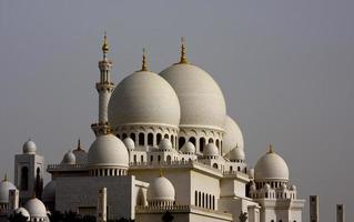 große weiße Moschee foto