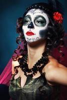 Halloween Make-up Zuckerschädel foto