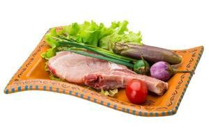 rohes T-Bone-Steak foto