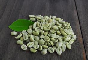 grüne Kaffeebohnen foto
