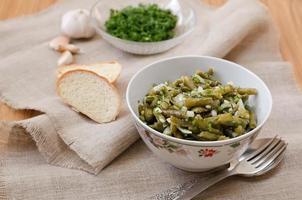 marinierte grüne Bohnen foto