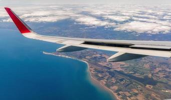 Flugzeugflügel. foto