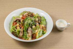 Schweinefleisch Salat Set foto