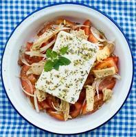 griechischer Salat. foto