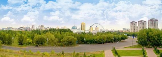 Astana. Stadtlandschaft foto