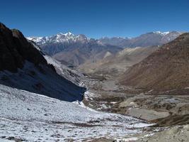 Landschaft in der Nähe von Muktinath foto