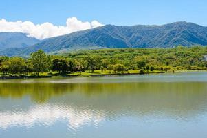 Landschaft des Sees foto