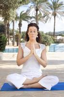 Meditationsfrau foto