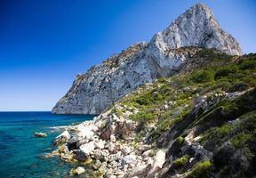 Klippen- und Seelandschaft