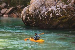 Kajakfahren auf dem Soca River, Slowenien
