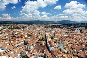 Panorama von Florenz Landschaft, Toskana, Italien foto