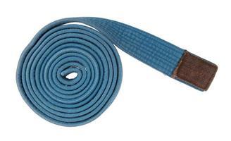 blauer Gürtel isoliert foto