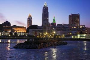 Wintermorgen in Cleveland foto