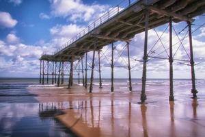 Saltburn Pier Cleveland England Großbritannien foto