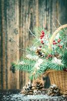 Winterstrauß für Weihnachten