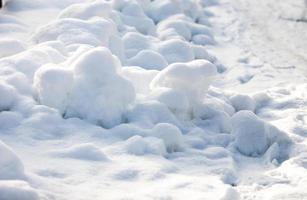 frische Schneedecke im Winter foto