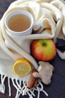 heißes Winter würziges Getränk foto