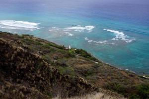 Spitze des Diamantkopfkraters in Honolulu foto