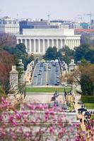 Washington DC. Lincoln Denkmal foto