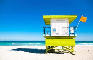 Rettungsschwimmer-Turm in Miami Beach, Florida foto