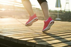 rennende Frau foto