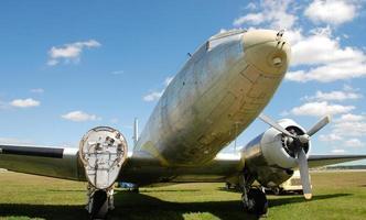 altes Propellerflugzeug foto