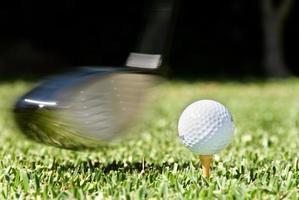Golfschlag foto