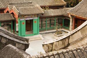 Innenhof des chinesischen Dorfes foto