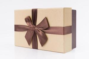 Geschenkbox mit schönem Band foto