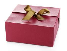Geschenkbox isoliert auf weiß foto