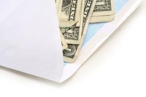 Bargeld in einem Umschlag foto