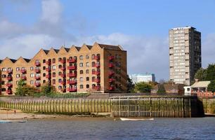Themse und London City foto